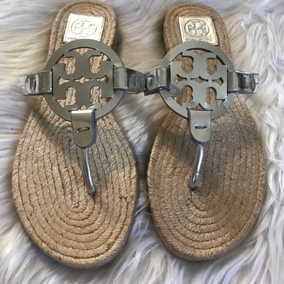 23dfcf0dbc9bb Tory Burch Miller Espadrille Sandal Size 8.5!! M 5b82caf59264af217882daf2